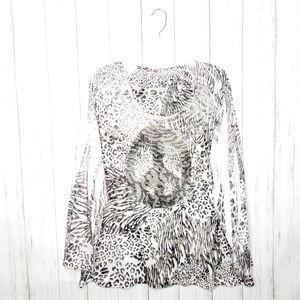 Lane Bryant Bling Peace Animal Print Top Sz 22/24